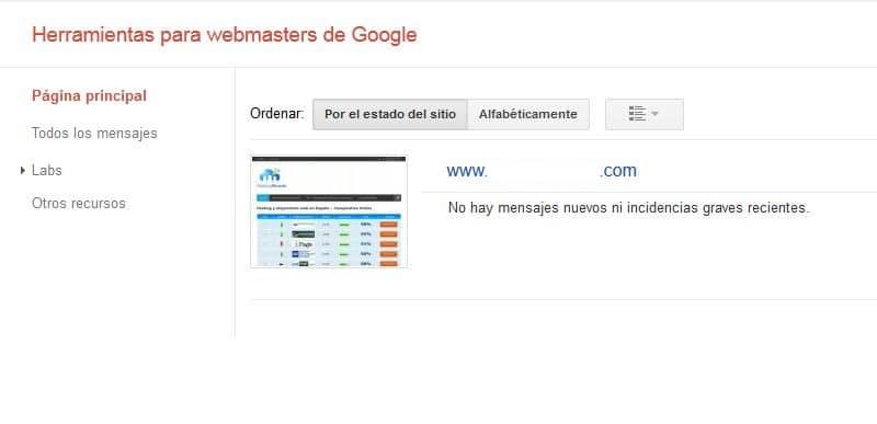 cuenta asociada al webmaster tools