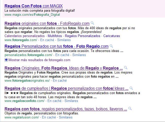 posiciones en google
