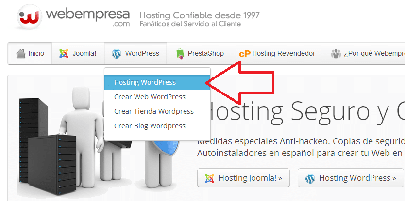 crear un blog de wordpress con webempresa
